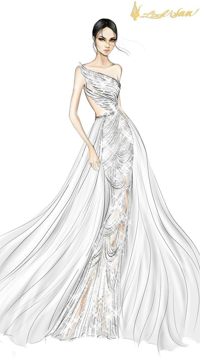 Hé lộ trang phục dạ hội mang hình tượng bồ câu được Á hậu Ngọc Thảo chọn đi dự thi ảnh 8