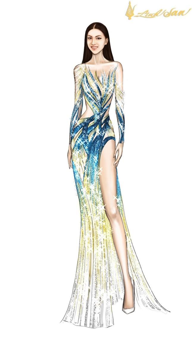 Hé lộ trang phục dạ hội mang hình tượng bồ câu được Á hậu Ngọc Thảo chọn đi dự thi ảnh 9