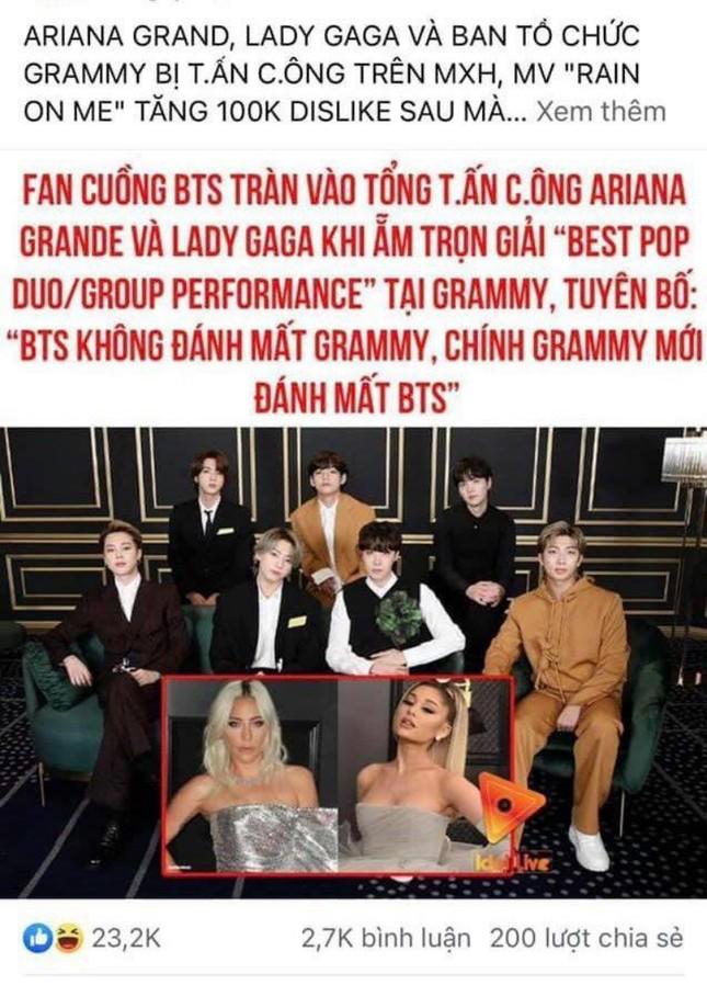 Đăng tin sai sự thật, hàng loạt page giải trí lớn phải xin lỗi cộng đồng người hâm mộ BTS ảnh 2