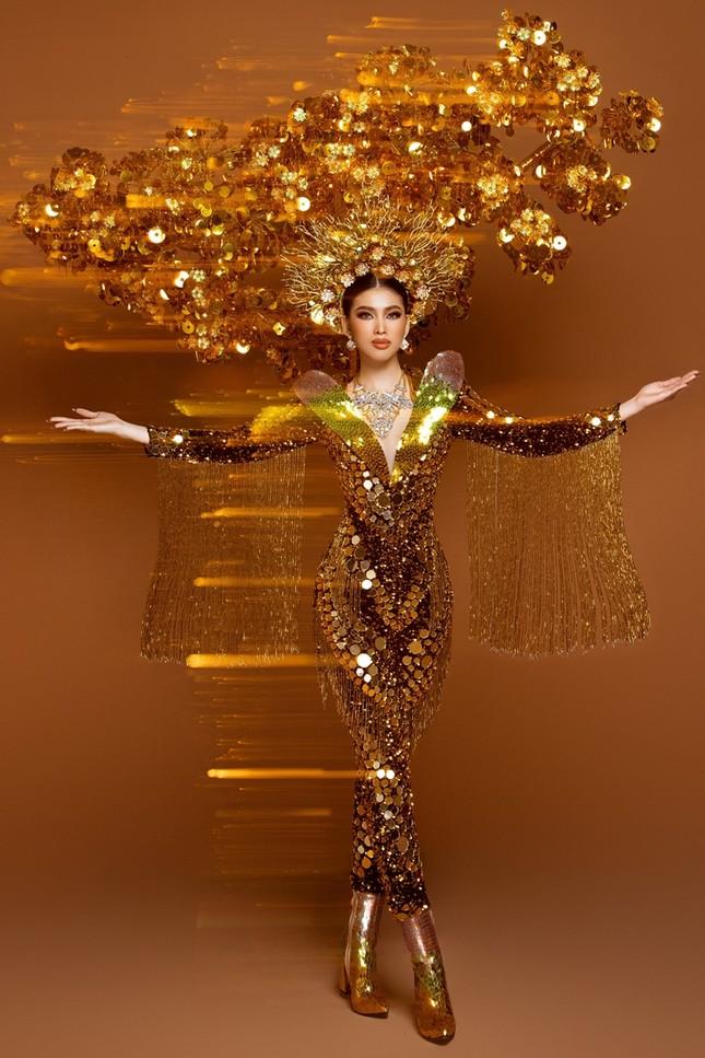 Cận cảnh bộ quốc phục nặng 30kg của Á hậu Ngọc Thảo tại Miss Grand International ảnh 4