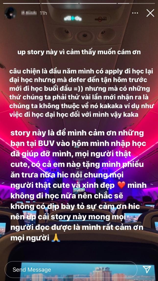 Kết thúc hành trình Rap Việt, Tlinh quyết định rời trường Đại học sau buổi học đầu tiên ảnh 3