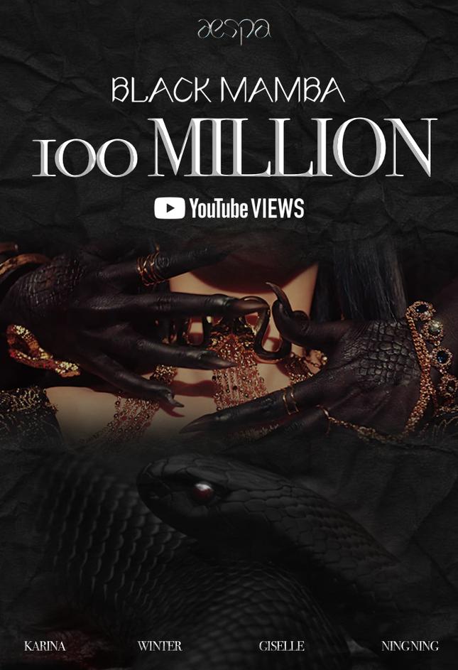 """""""Black Mamba"""" của aespa trở thành MV debut đạt 100 triệu lượt xem nhanh nhất K-Pop ảnh 1"""