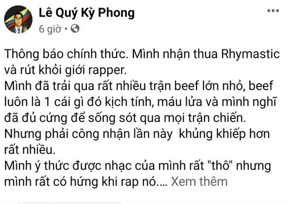"""Kết thúc màn """"rap dizz"""", Rhymastic soạn hẳn bộ quy tắc ứng xử dành cho rapper Việt ảnh 1"""