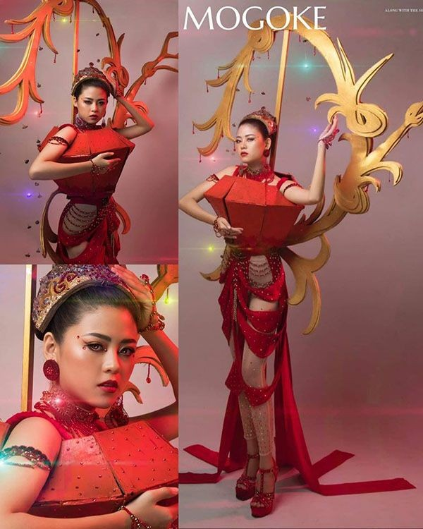 Trang phục dân tộc Hoa hậu Hoàn vũ Myanmar 2020 gây sốt, có bộ bắt chước Việt Nam? ảnh 2