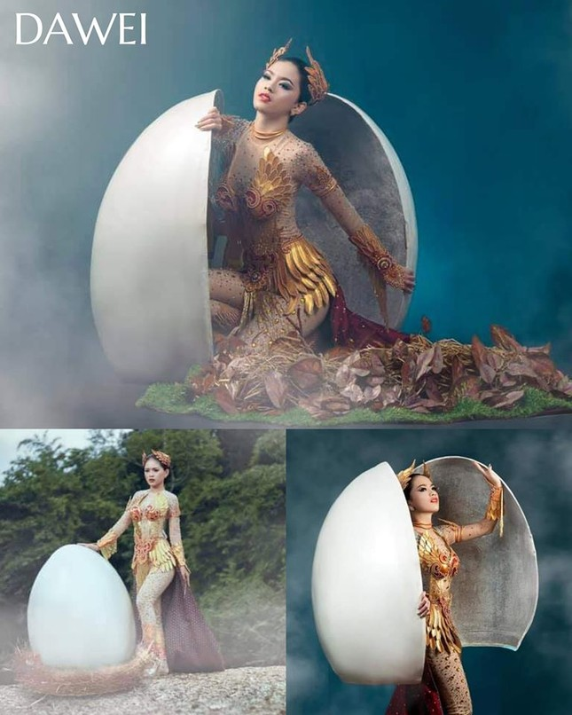 Trang phục dân tộc Hoa hậu Hoàn vũ Myanmar 2020 gây sốt, có bộ bắt chước Việt Nam? ảnh 4