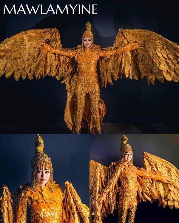 Trang phục dân tộc Hoa hậu Hoàn vũ Myanmar 2020 gây sốt, có bộ bắt chước Việt Nam? ảnh 8