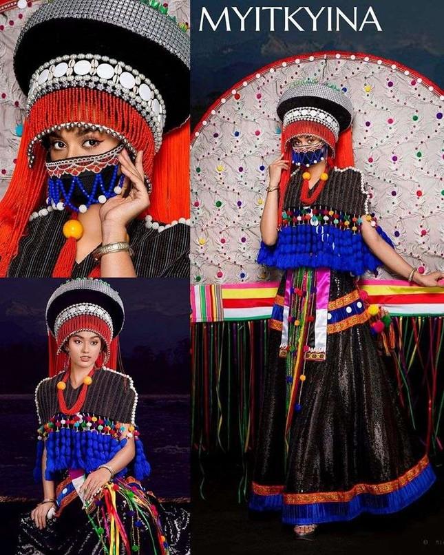 Trang phục dân tộc Hoa hậu Hoàn vũ Myanmar 2020 gây sốt, có bộ bắt chước Việt Nam? ảnh 9