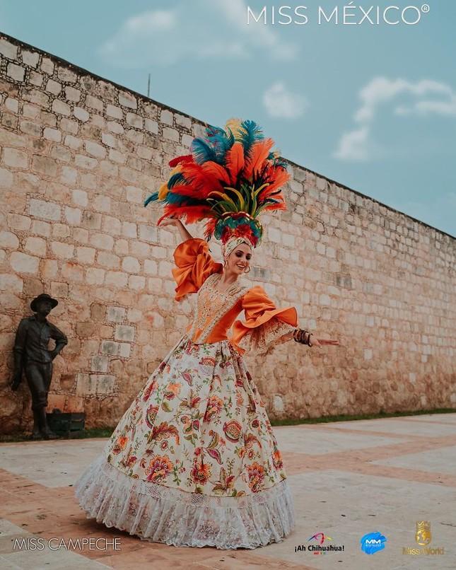 Choáng ngợp trước trang phục truyền thống lộng lẫy của các thí sinh Hoa hậu Mexico 2020 ảnh 10