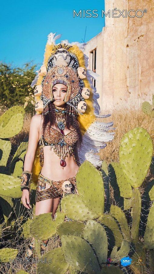 Choáng ngợp trước trang phục truyền thống lộng lẫy của các thí sinh Hoa hậu Mexico 2020 ảnh 9