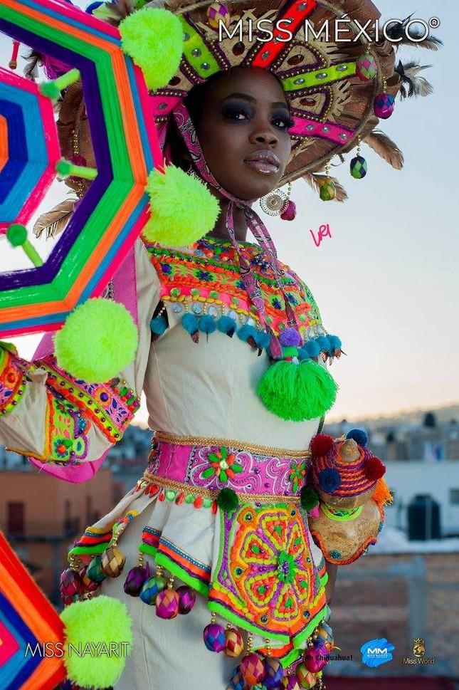 Choáng ngợp trước trang phục truyền thống lộng lẫy của các thí sinh Hoa hậu Mexico 2020 ảnh 11