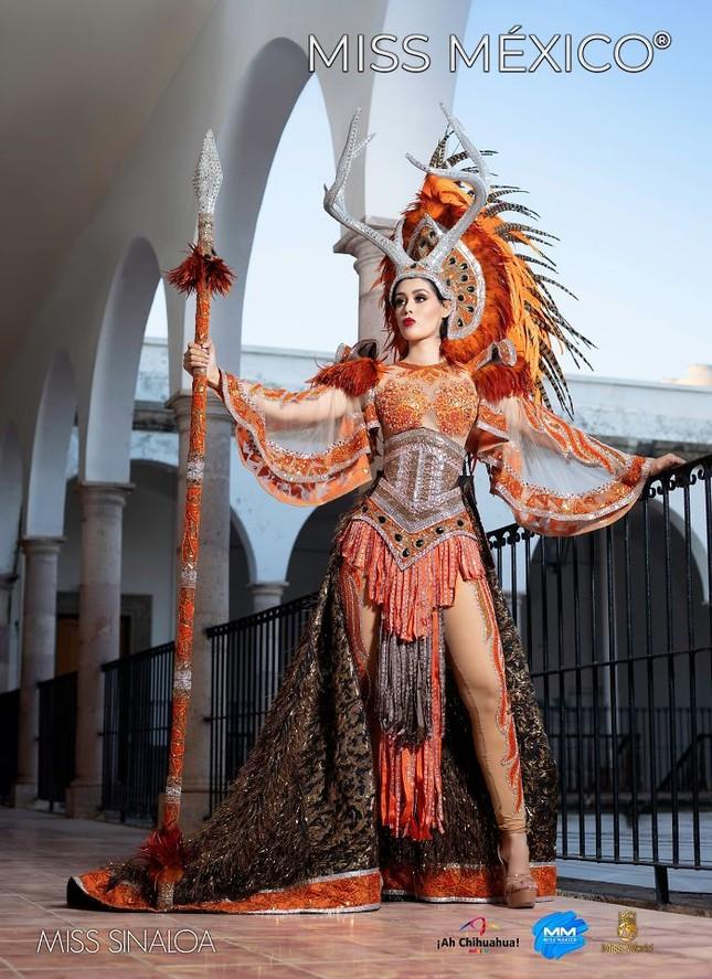 Choáng ngợp trước trang phục truyền thống lộng lẫy của các thí sinh Hoa hậu Mexico 2020 ảnh 8