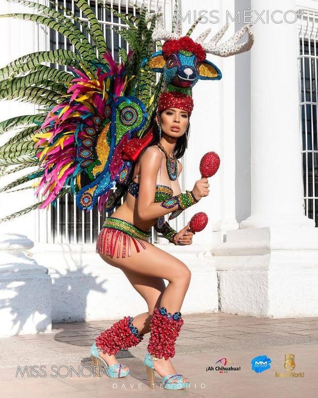 Choáng ngợp trước trang phục truyền thống lộng lẫy của các thí sinh Hoa hậu Mexico 2020 ảnh 1