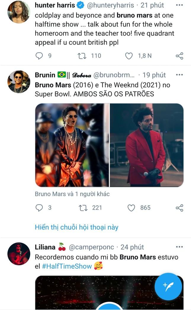 """Quá """"nhọ"""" cho The Weeknd: Chi 7 triệu đô diễn Super Bowl Halftime Show 2021 nhưng fan lại gọi tên Bruno Mars ảnh 6"""