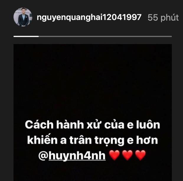 """Mới công khai hẹn hò nửa tháng, Quang Hải - Huỳnh Anh đã """"thương thương"""" nhau thế này đây! ảnh 2"""