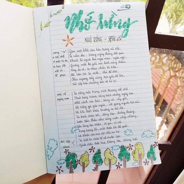 Cuốn vở Ngữ văn được trang trí đầy màu sắc, nhìn vào là muốn học bài ngay! ảnh 5