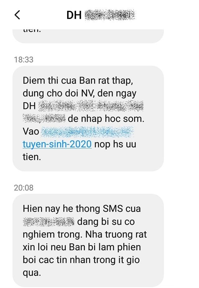 Sĩ tử phẫn nộ khi nhận tin nhắn chê điểm thấp từ một trường đại học ảnh 2