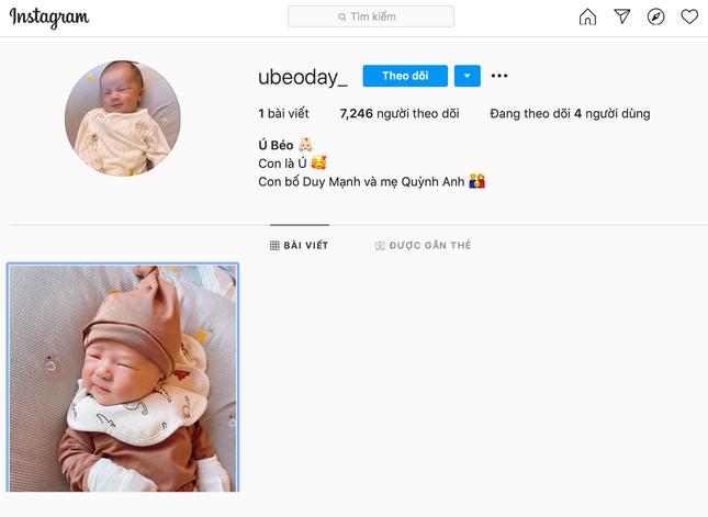 """""""Công chúa béo"""" Quỳnh Anh khoe mặt mộc sau khi sinh, lập hẳn Instagram cho bé Ú ảnh 3"""