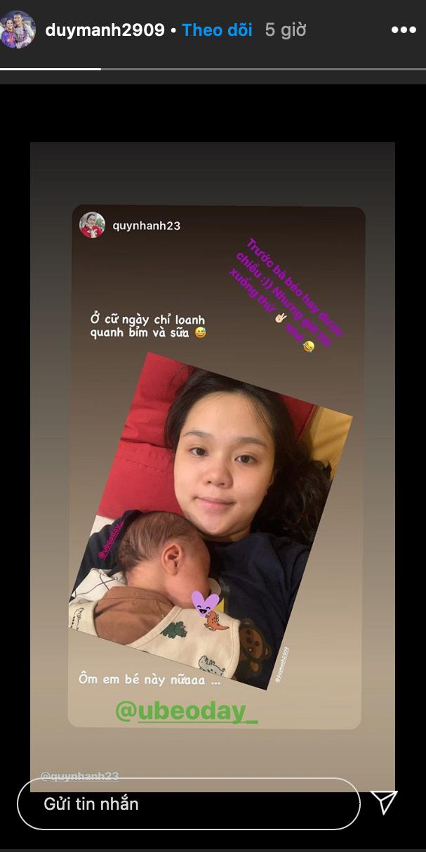 """""""Công chúa béo"""" Quỳnh Anh khoe mặt mộc sau khi sinh, lập hẳn Instagram cho bé Ú ảnh 2"""
