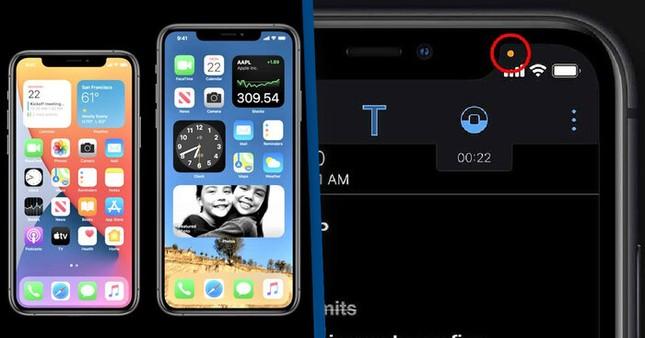 Chấm tròn cam và xanh xuất hiện trên iPhone sau khi cập nhật iOS 14 có ý nghĩa gì? ảnh 2