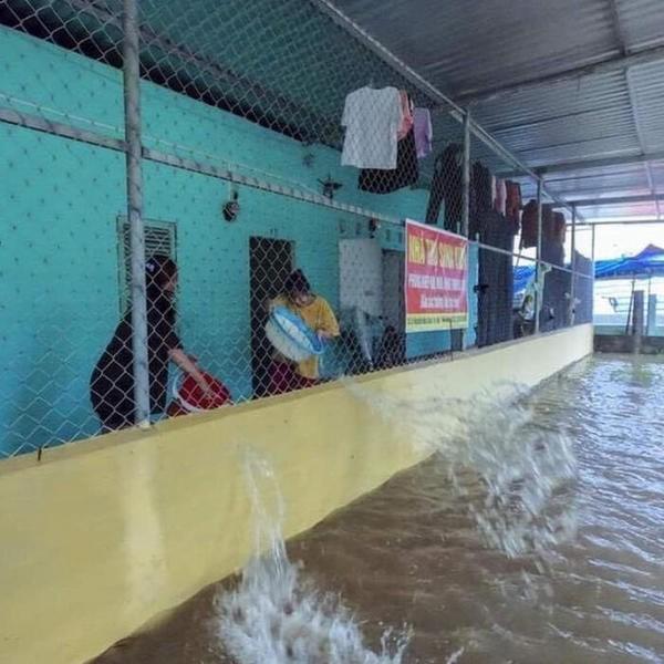 """Sinh viên miền Trung xoay sở mùa mưa lũ: Gió quật bay cả mái nhà, """"câu cá"""" trong phòng trọ ảnh 2"""