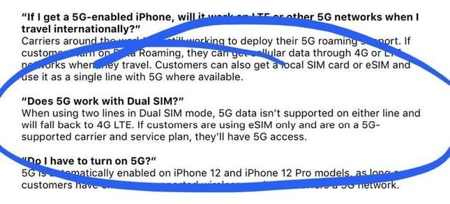"""Các """"tín đồ Apple"""" lưu ý: iPhone 12 lắp 2 SIM có thể không sử dụng được mạng 5G ảnh 2"""
