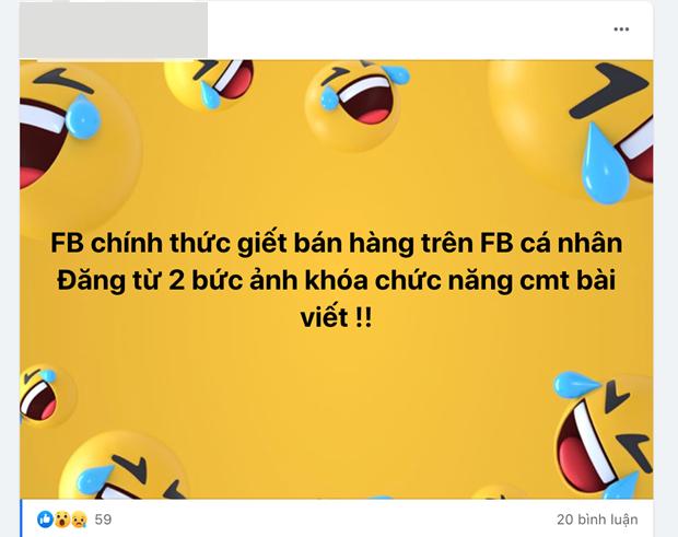 Người dùng Facebook Việt Nam hoang mang khi bài đăng từ 2 hình trở lên bị khoá bình luận ảnh 1