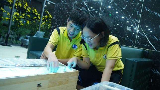 Học sinh lớp 8 tìm giải pháp cải thiện ô nhiễm nguồn nước bằng ứng dụng hạt Nano TIO2 ảnh 1