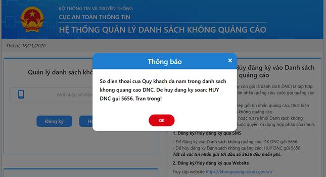 Cách chặn cuộc gọi và tin nhắn rác trên website của Cục An Toàn Thông Tin, bạn biết chưa? ảnh 5