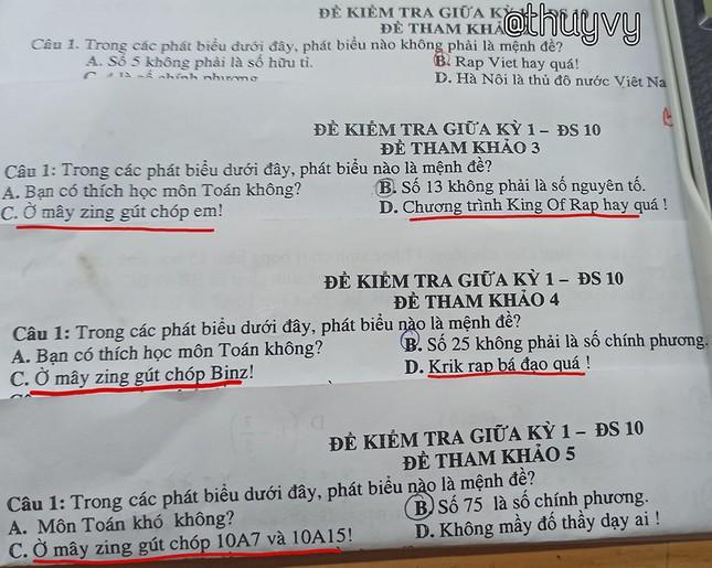 """Đề kiểm tra môn Toán toàn là """"Rap Việt"""": Đây chính là thầy giáo """"bắt trend"""" nhất năm! ảnh 1"""