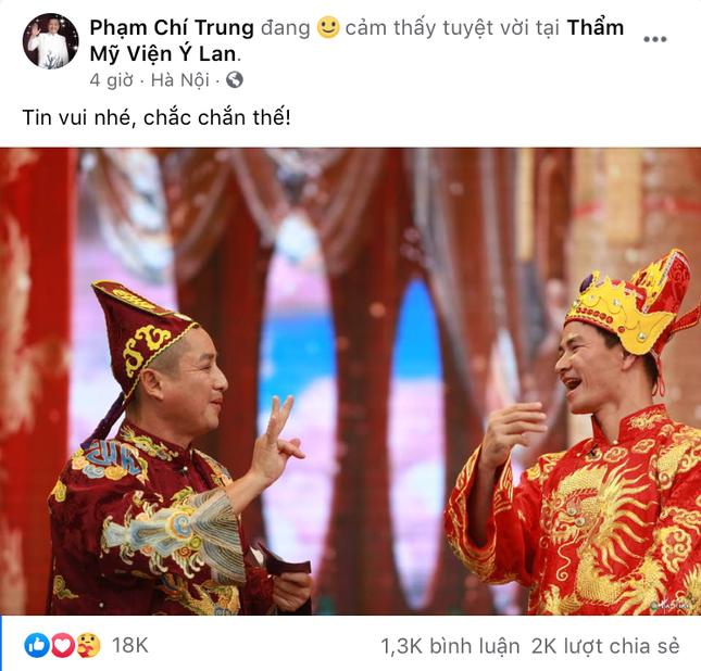 """Nghệ sĩ Chí Trung đăng ảnh """"Tin vui nhé"""", ngầm khẳng định Táo Quân sẽ trở lại dịp Tết? ảnh 1"""