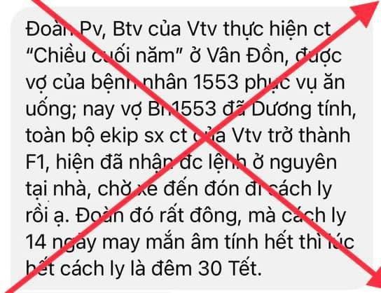Phía VTV lên tiếng về thông tin các phóng viên Thời sự tiếp xúc với BN COVID-19 Quảng Ninh ảnh 2