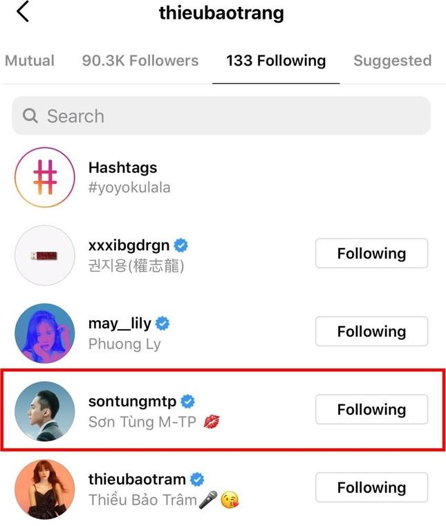 Sau Thiều Bảo Trâm, đến lượt Thiều Bảo Trang có động thái này trên Instagram với Sơn Tùng ảnh 2
