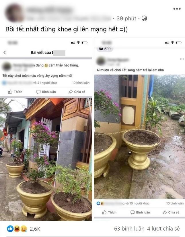 """Cô gái lên Facebook khoe cây cảnh trước nhà, hôm sau rút ra kinh nghiệm: """"Tết đừng khoe gì lên mạng"""" ảnh 3"""