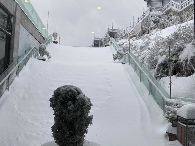 Tuyết rơi phủ dày trên đỉnh Fansipan (Lào Cai), khung cảnh đẹp tựa như phim cổ trang ảnh 7
