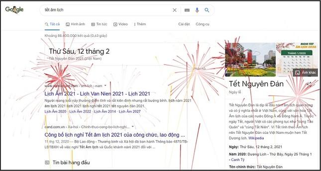Facebook đổi logo trâu vàng và cành đào đón Tết, Google bắn pháo hoa tưng bừng ảnh 4