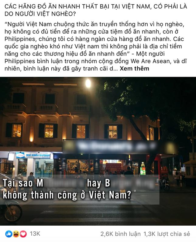 """Câu hỏi gây tranh cãi: """"Các hãng đồ ăn nhanh thất bại tại Việt Nam, có phải là do người Việt nghèo?"""" ảnh 3"""