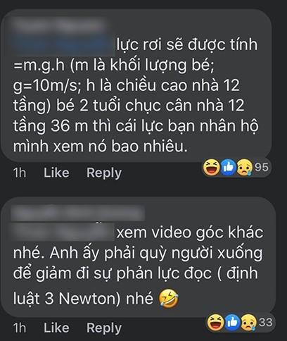 Từ vụ bé gái rơi từ tầng 12 chung cư tại Hà Nội: Dân mạng giải bài toán về lực tác động ảnh 4