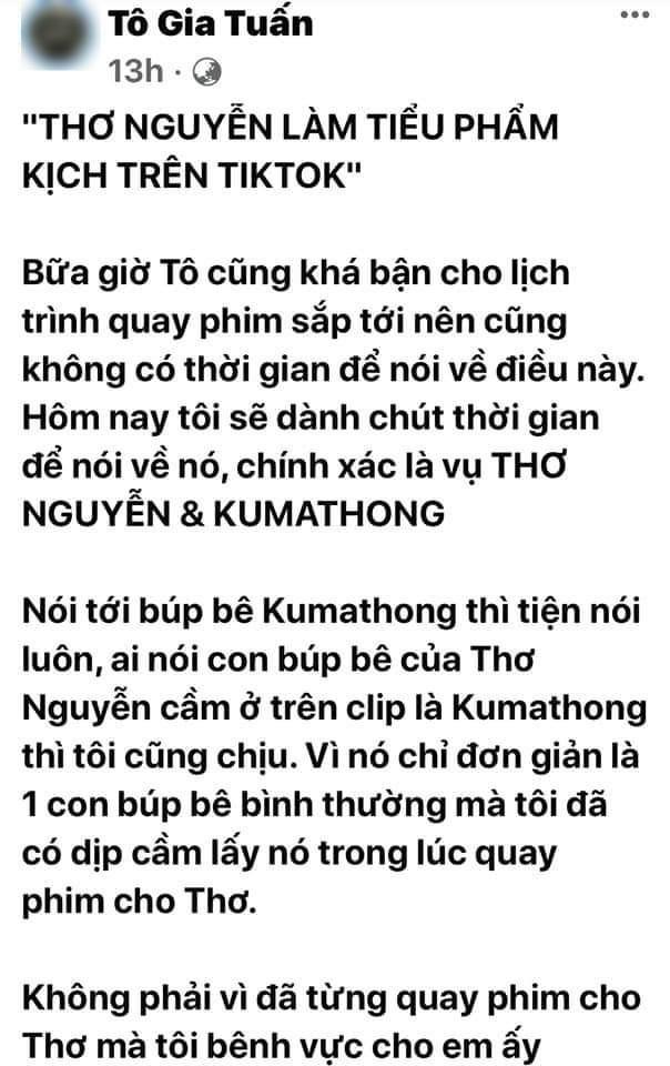 """Đạo diễn web-drama """"Bố Già"""" kêu gọi mọi người hãy cứu lấy YouTuber Thơ Nguyễn ảnh 2"""