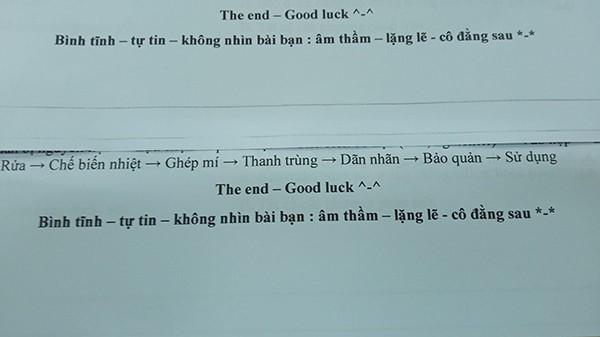 Đọc lời nhắn nhủ của giáo viên trên tờ đề kiểm tra, teen giật mình quay lại nhìn phía sau ảnh 1