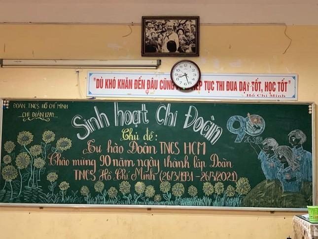 Sôi động Tháng Thanh niên: Hội học sinh đua nhau khoe màn trang trí bảng cực đẹp ảnh 6