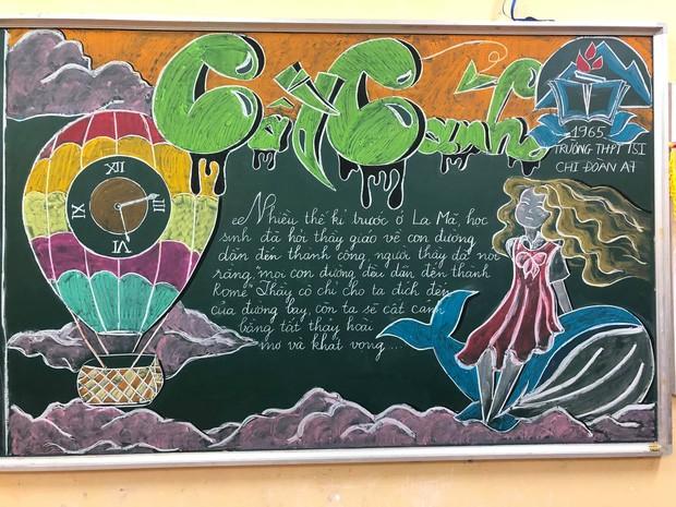 Sôi động Tháng Thanh niên: Hội học sinh đua nhau khoe màn trang trí bảng cực đẹp ảnh 10