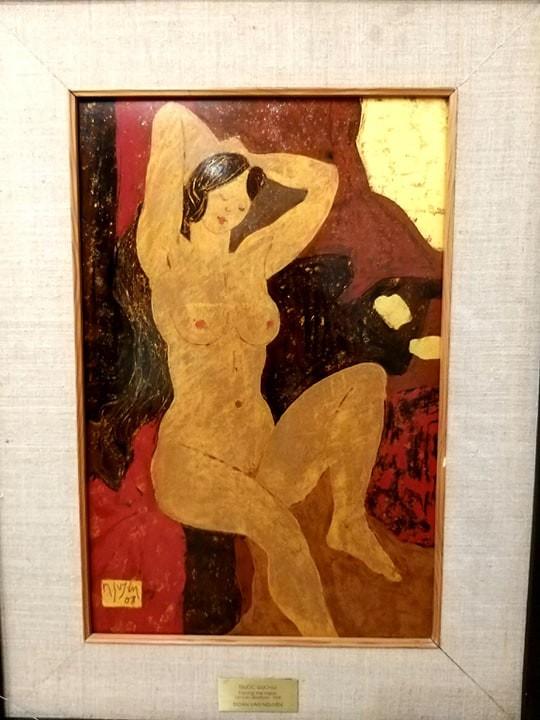 Vì sao tranh nude sơn mài của Đoàn Văn Nguyên giá cao? ảnh 2