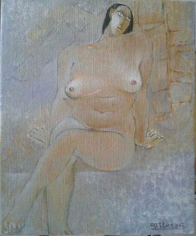Đàn bà khỏa thân trong tranh Đặng Tiến ảnh 1