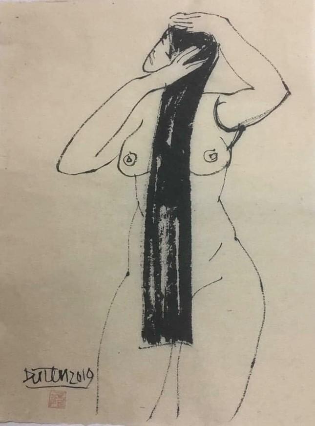 Đàn bà khỏa thân trong tranh Đặng Tiến ảnh 5