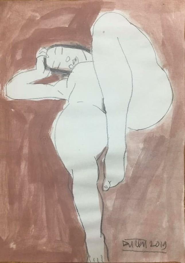 Đàn bà khỏa thân trong tranh Đặng Tiến ảnh 6