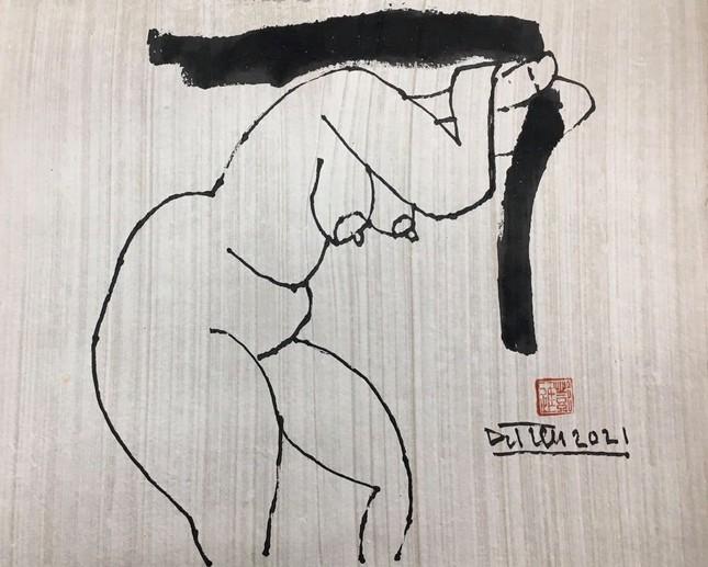 Đàn bà khỏa thân trong tranh Đặng Tiến ảnh 3