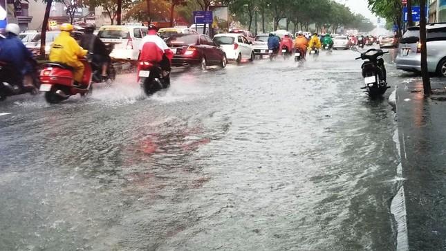 Giao thông cửa ngõ Tân Sơn Nhất tê liệt sau cơn mưa ảnh 5