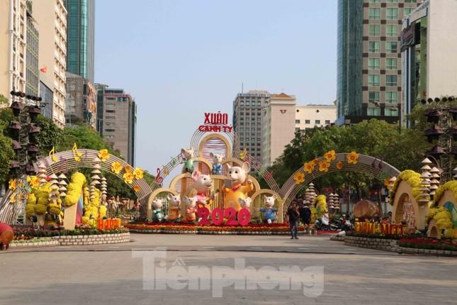 Cận cảnh đường hoa Nguyễn Huệ Tết Nguyên đán 2020 trước giờ khai hội ảnh 1