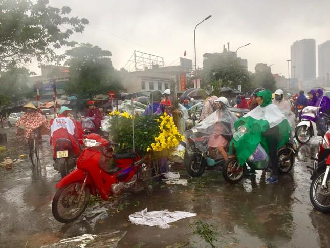 Chiều 30 Tết: Dân thủ đô đội mưa mua hoa 'giá bèo' ảnh 2
