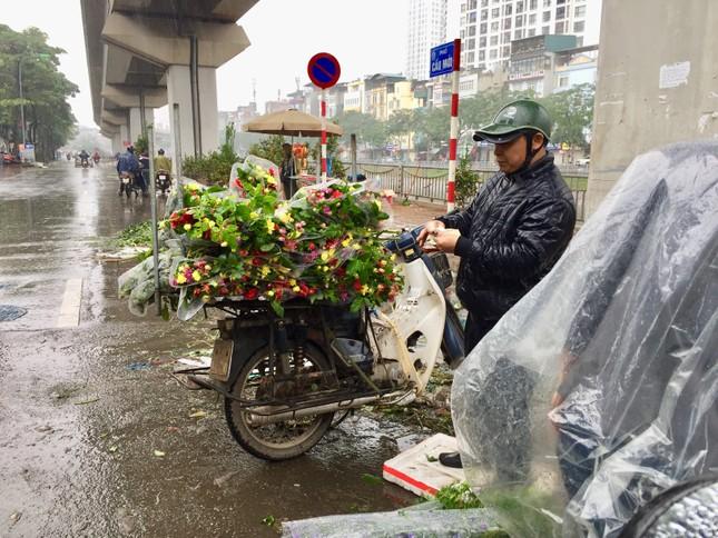 Chiều 30 Tết: Dân thủ đô đội mưa mua hoa 'giá bèo' ảnh 3
